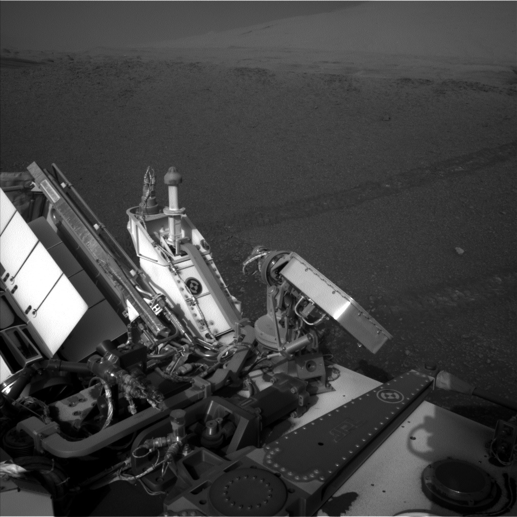 Nasa's Mars rover Curiosity acquired this image using its Left Navigation Camera on Sol 2447, at drive 1072, site number 76