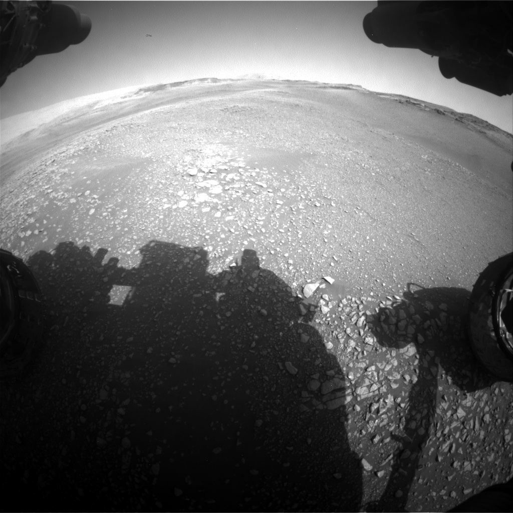 Nasa's Mars rover Curiosity acquired this image using its Front Hazard Avoidance Camera (Front Hazcam) on Sol 2448, at drive 1300, site number 76