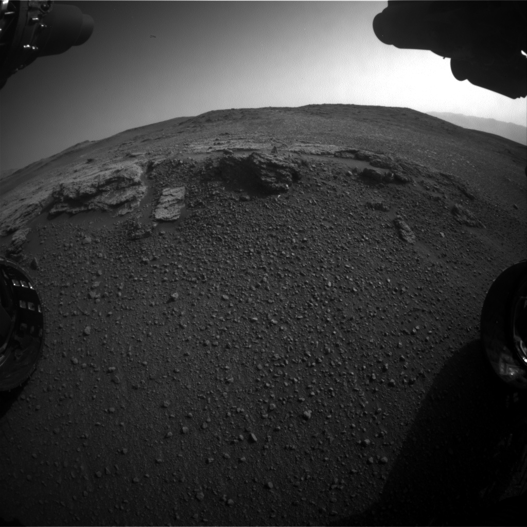 Nasa's Mars rover Curiosity acquired this image using its Front Hazard Avoidance Camera (Front Hazcam) on Sol 2449, at drive 1384, site number 76