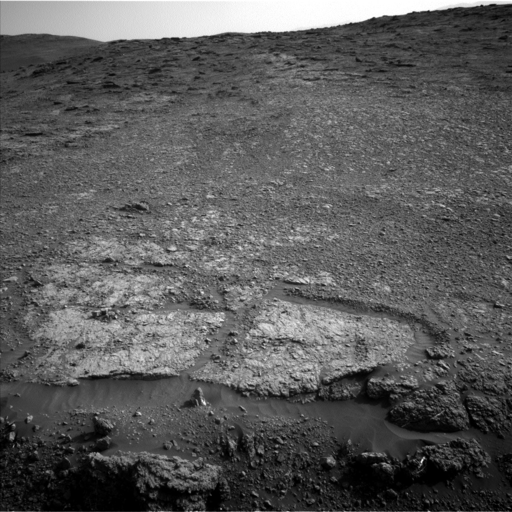 Nasa's Mars rover Curiosity acquired this image using its Left Navigation Camera on Sol 2449, at drive 1384, site number 76