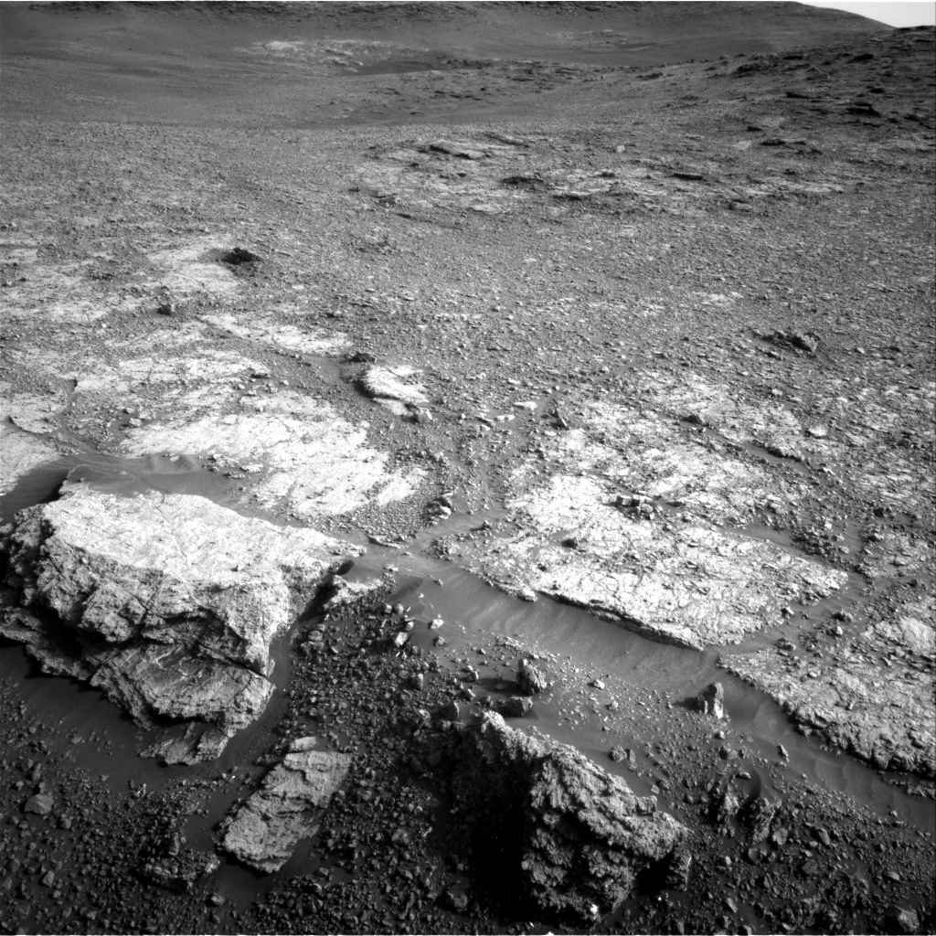 NASA's Mars rover Curiosity acquired this image using its Right Navigation Cameras (Navcams) on Sol 2449