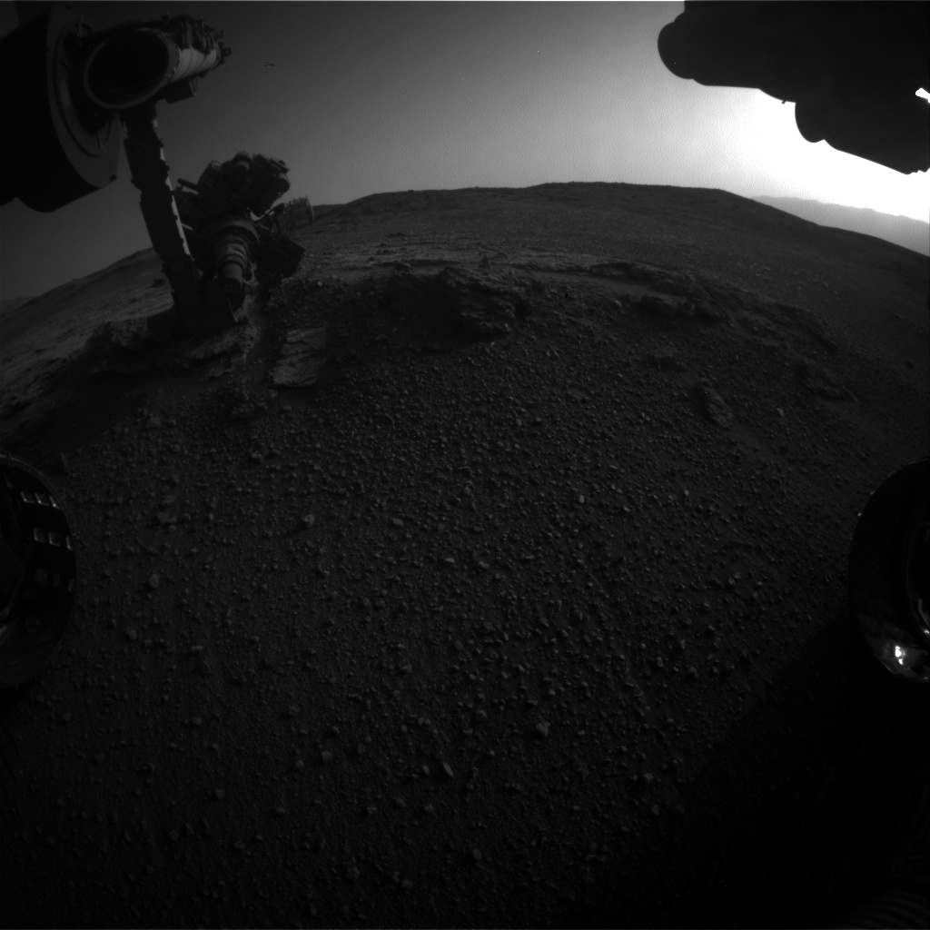 Nasa's Mars rover Curiosity acquired this image using its Front Hazard Avoidance Camera (Front Hazcam) on Sol 2450, at drive 1384, site number 76