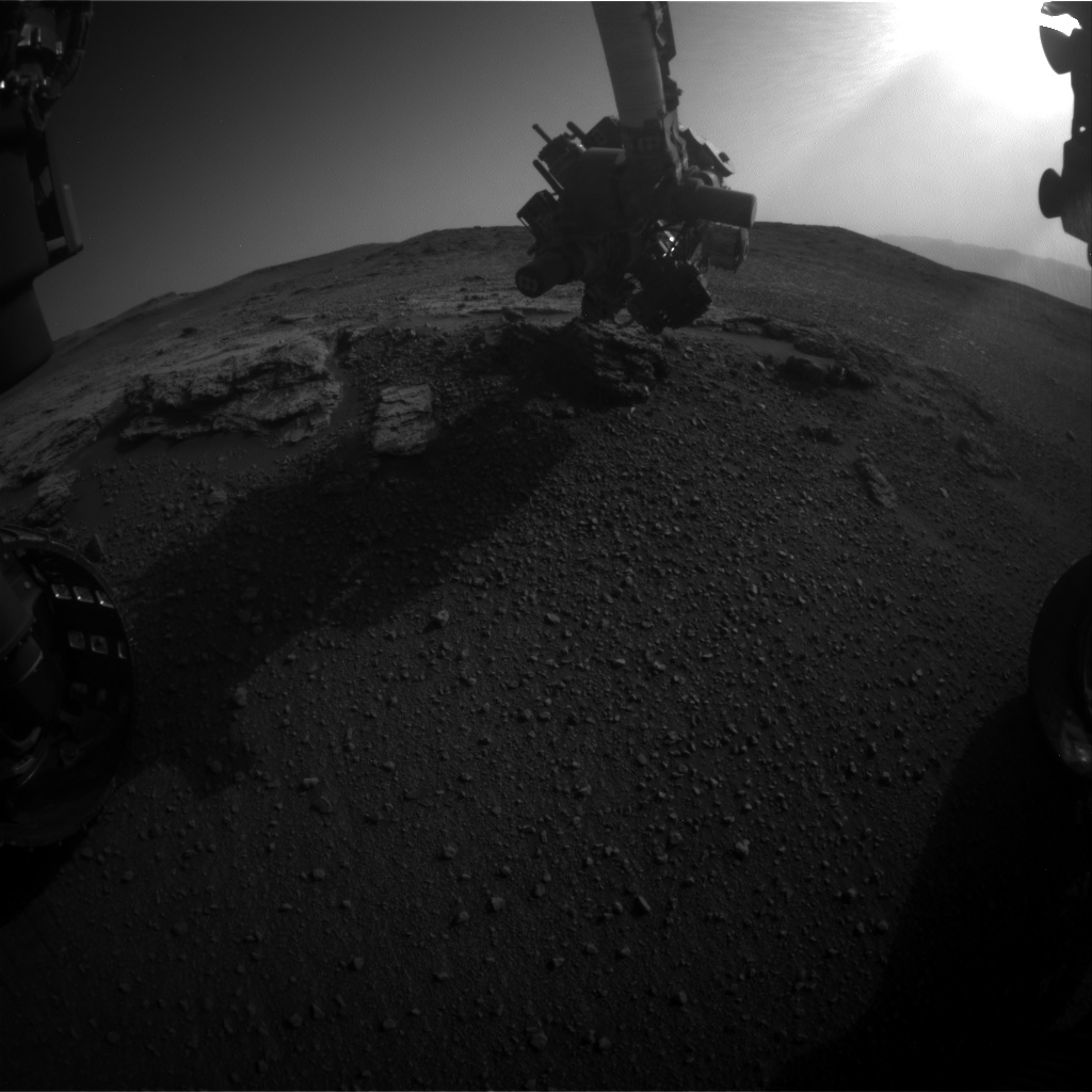 Nasa's Mars rover Curiosity acquired this image using its Front Hazard Avoidance Camera (Front Hazcam) on Sol 2452, at drive 1384, site number 76