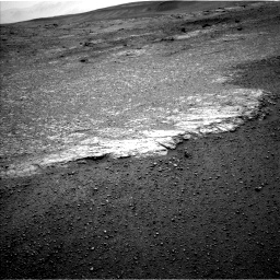 Nasa's Mars rover Curiosity acquired this image using its Left Navigation Camera on Sol 2453, at drive 1438, site number 76