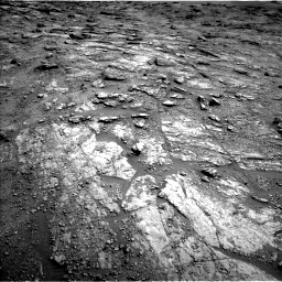 Nasa's Mars rover Curiosity acquired this image using its Left Navigation Camera on Sol 2454, at drive 1600, site number 76