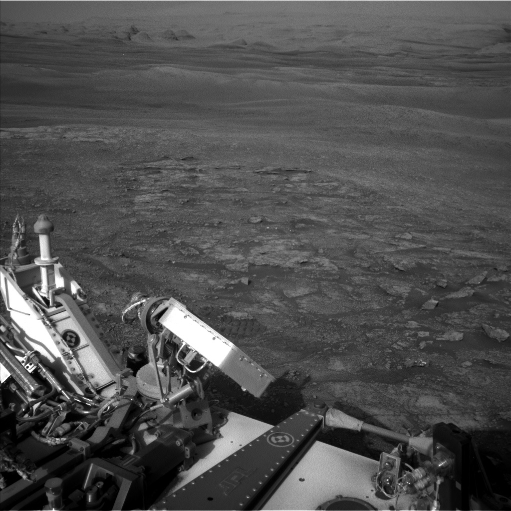 Nasa's Mars rover Curiosity acquired this image using its Left Navigation Camera on Sol 2454, at drive 1666, site number 76