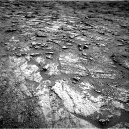 Nasa's Mars rover Curiosity acquired this image using its Right Navigation Camera on Sol 2454, at drive 1600, site number 76