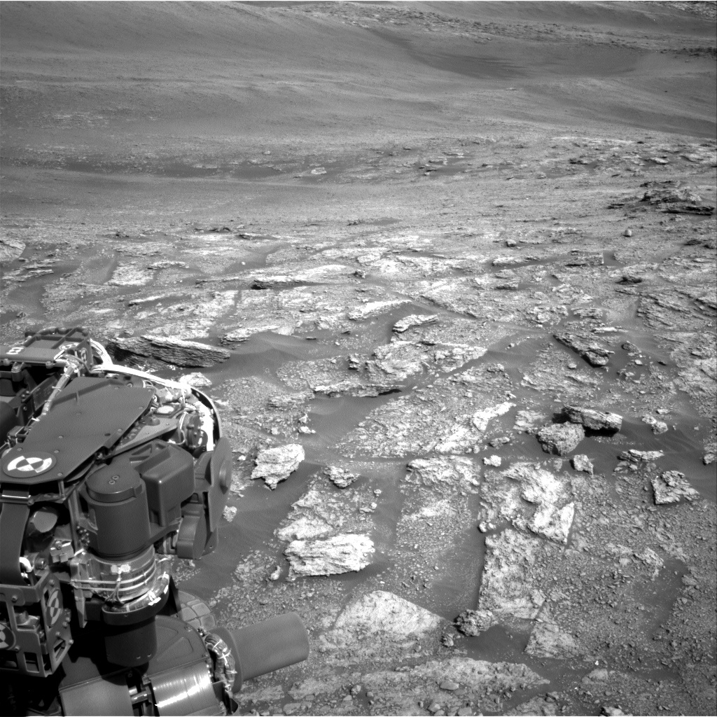 Nasa's Mars rover Curiosity acquired this image using its Right Navigation Camera on Sol 2454, at drive 1666, site number 76