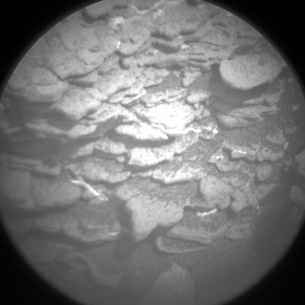 Nasa's Mars rover Curiosity acquired this image using its Chemistry & Camera (ChemCam) on Sol 2455, at drive 1666, site number 76