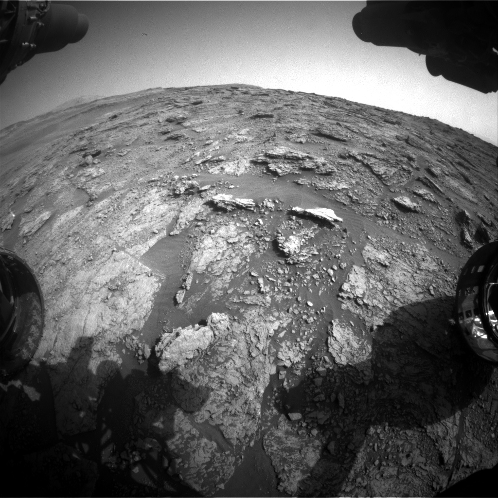 Nasa's Mars rover Curiosity acquired this image using its Front Hazard Avoidance Camera (Front Hazcam) on Sol 2456, at drive 1666, site number 76