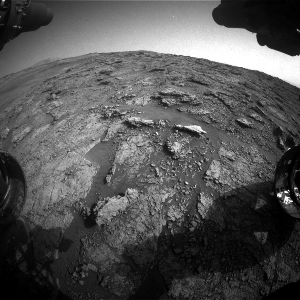 Nasa's Mars rover Curiosity acquired this image using its Front Hazard Avoidance Camera (Front Hazcam) on Sol 2457, at drive 1666, site number 76