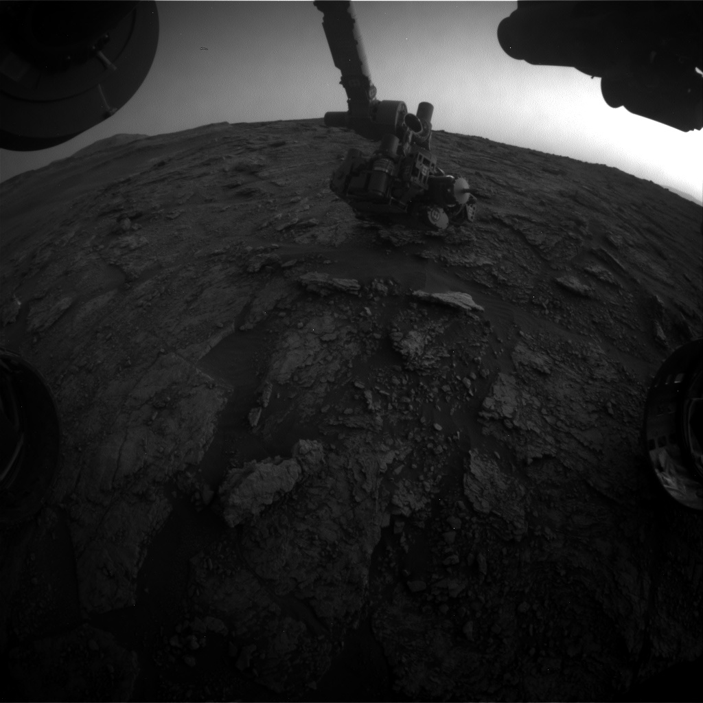 Nasa's Mars rover Curiosity acquired this image using its Front Hazard Avoidance Camera (Front Hazcam) on Sol 2458, at drive 1666, site number 76