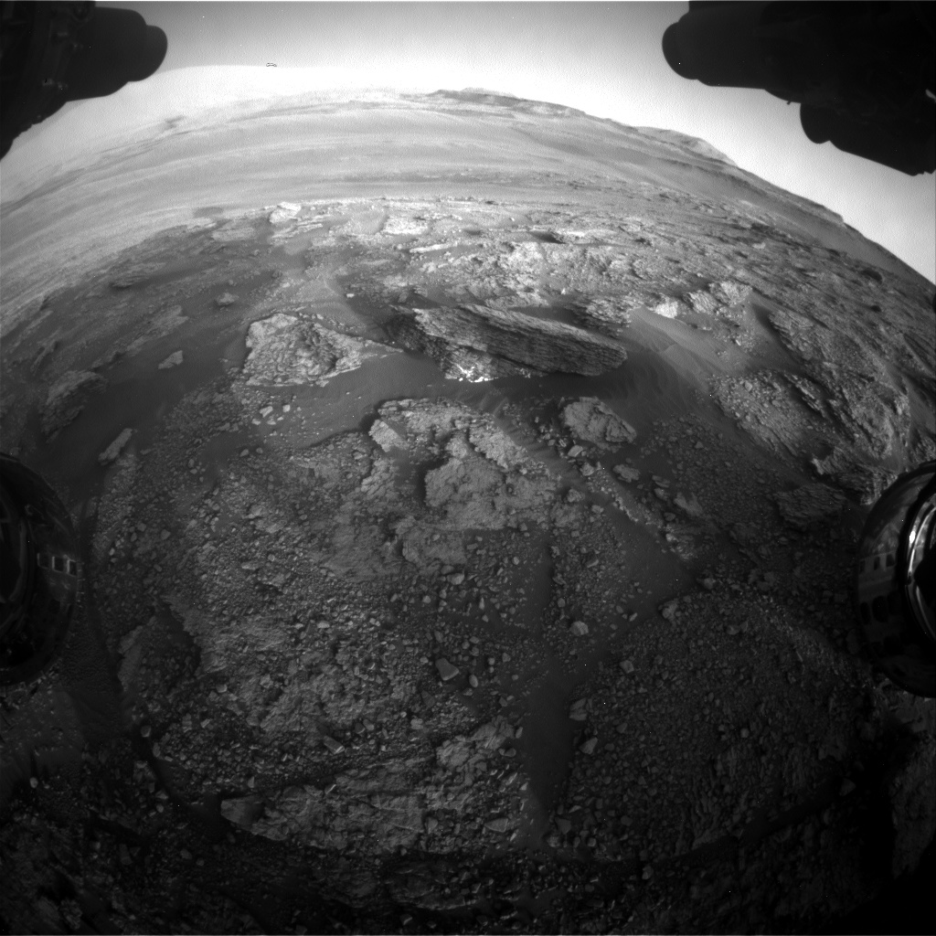 Nasa's Mars rover Curiosity acquired this image using its Front Hazard Avoidance Camera (Front Hazcam) on Sol 2459, at drive 1714, site number 76