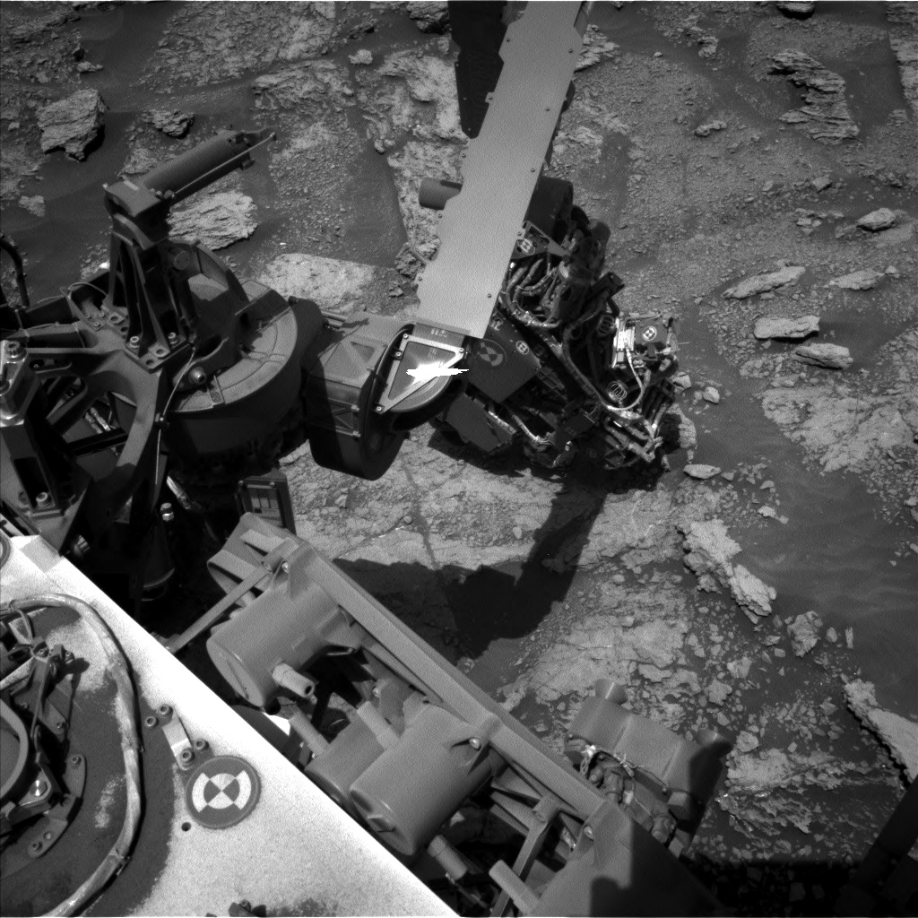 Nasa's Mars rover Curiosity acquired this image using its Left Navigation Camera on Sol 2459, at drive 1666, site number 76