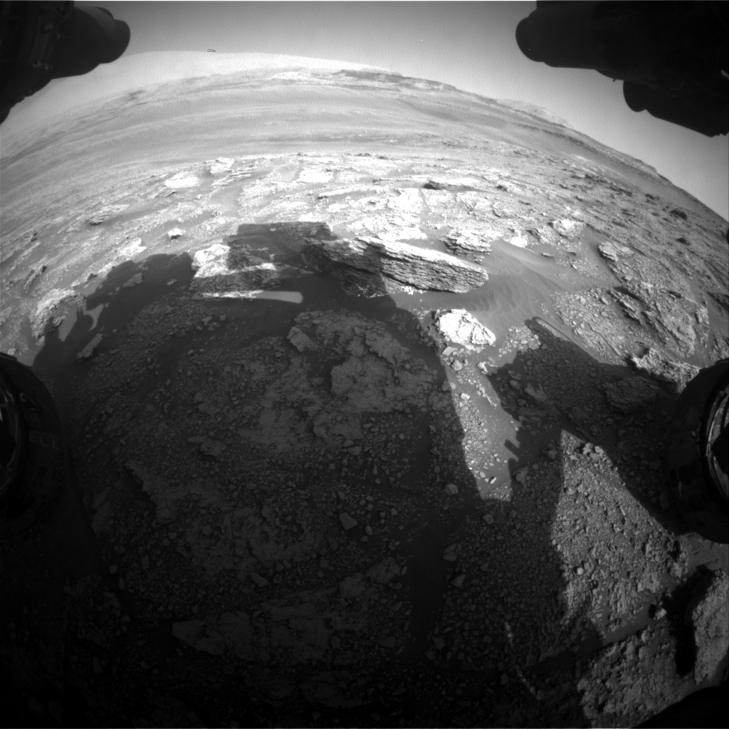 Nasa's Mars rover Curiosity acquired this image using its Front Hazard Avoidance Camera (Front Hazcam) on Sol 2460, at drive 1714, site number 76