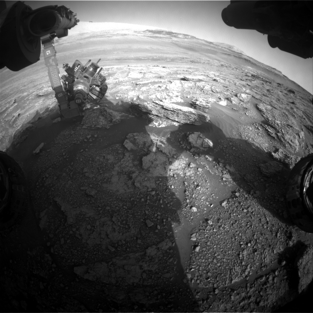 Nasa's Mars rover Curiosity acquired this image using its Front Hazard Avoidance Camera (Front Hazcam) on Sol 2461, at drive 1714, site number 76