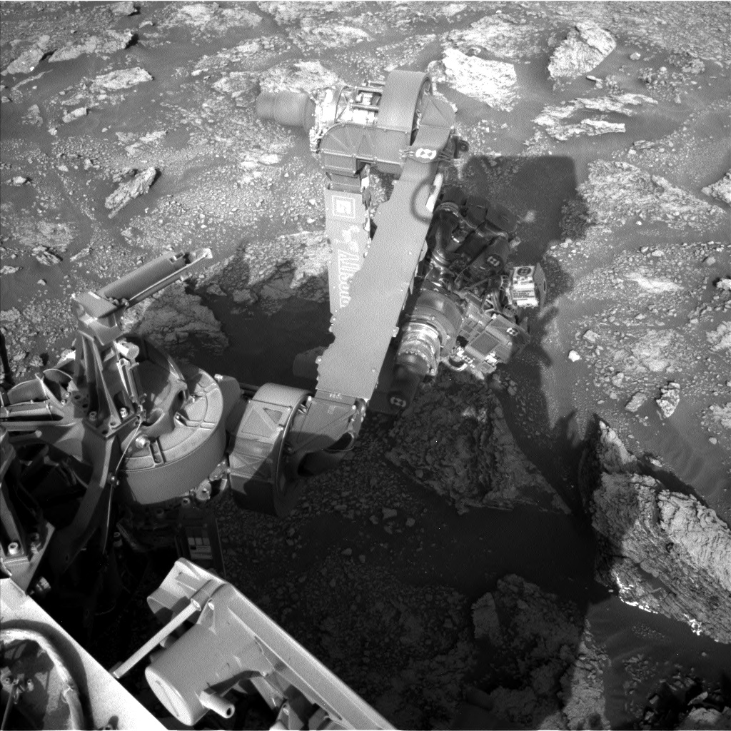 Nasa's Mars rover Curiosity acquired this image using its Left Navigation Camera on Sol 2461, at drive 1714, site number 76