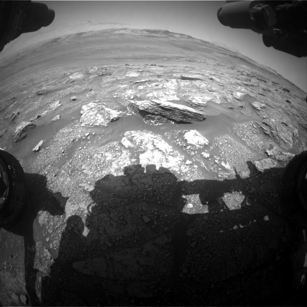 Nasa's Mars rover Curiosity acquired this image using its Front Hazard Avoidance Camera (Front Hazcam) on Sol 2462, at drive 1714, site number 76