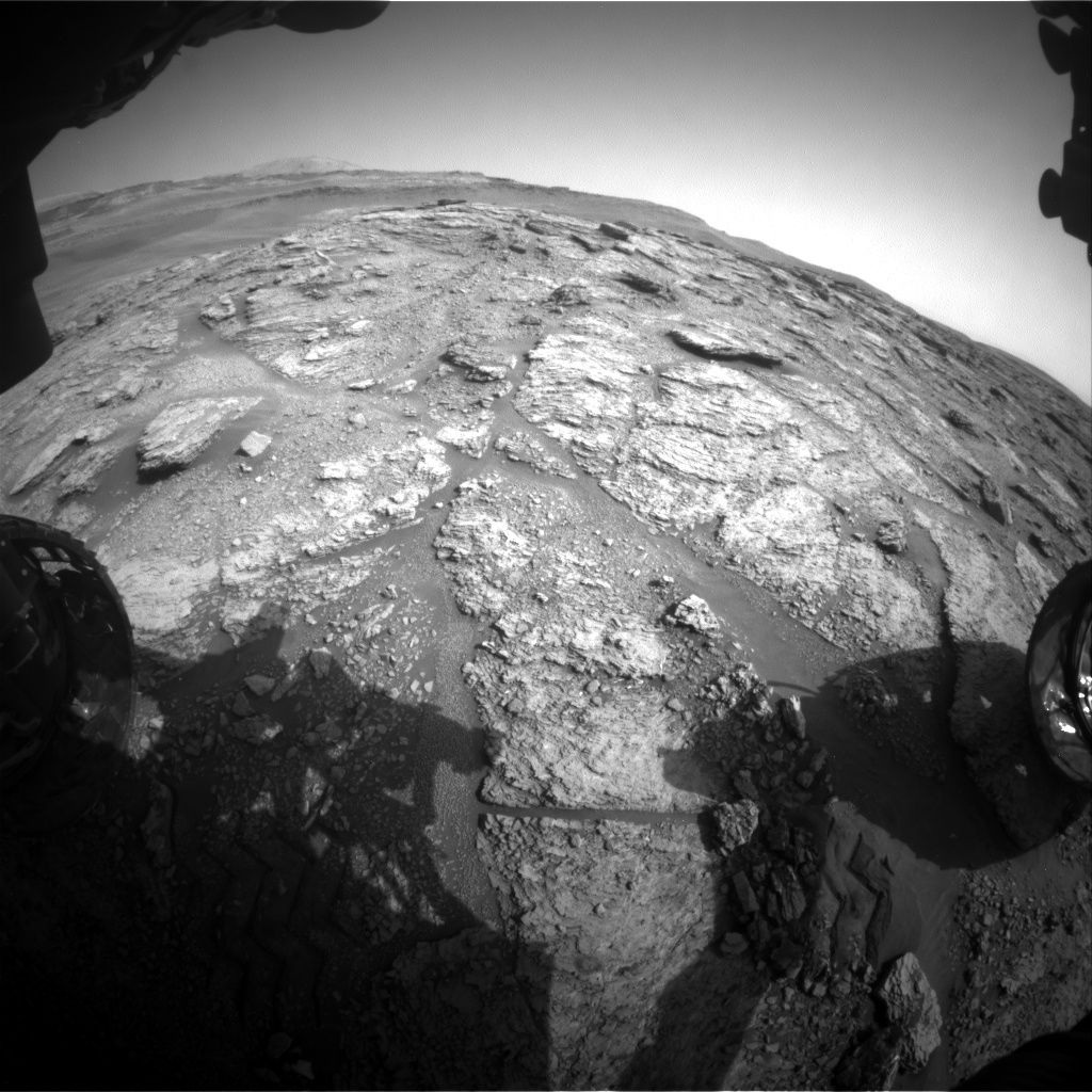 Nasa's Mars rover Curiosity acquired this image using its Front Hazard Avoidance Camera (Front Hazcam) on Sol 2463, at drive 1786, site number 76