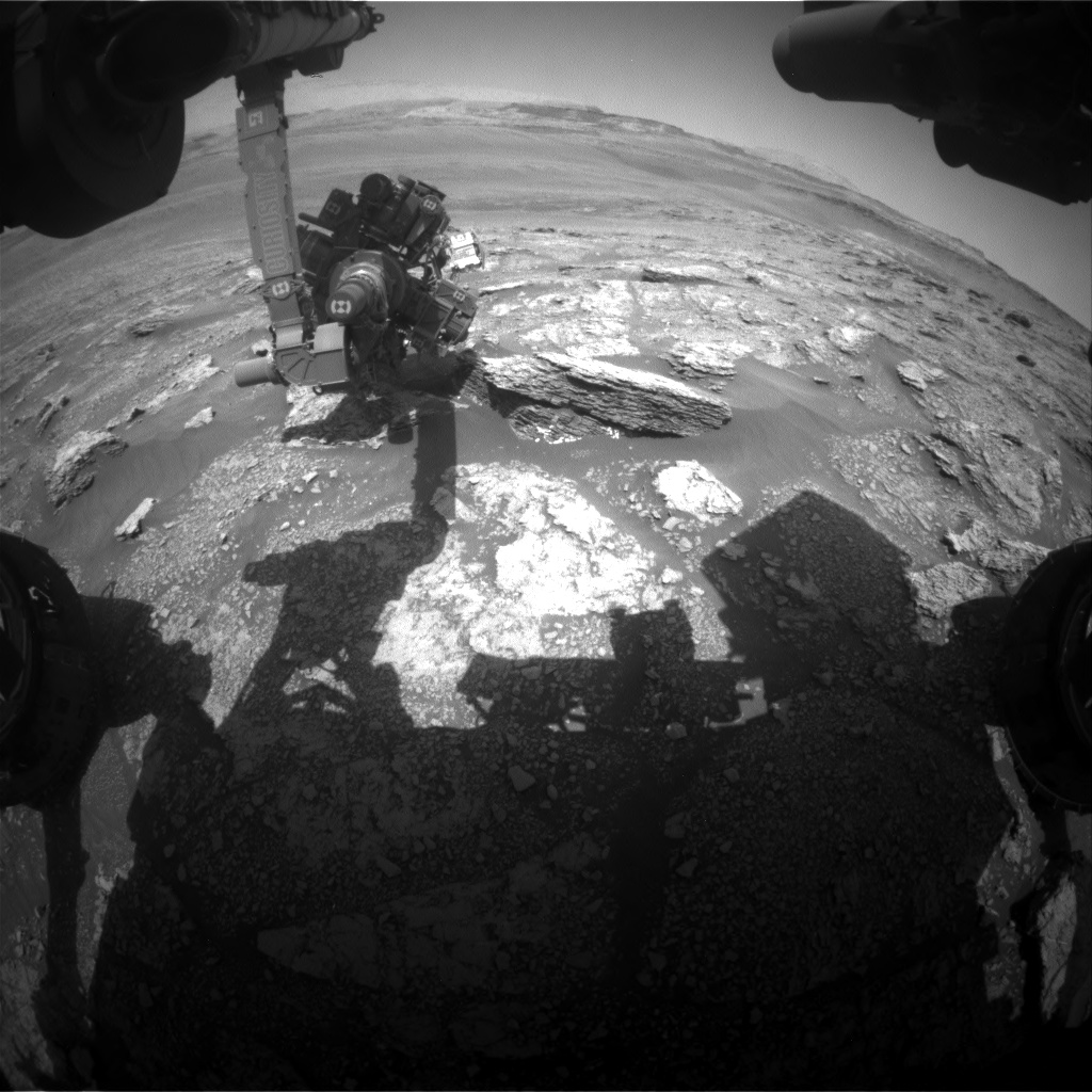 Nasa's Mars rover Curiosity acquired this image using its Front Hazard Avoidance Camera (Front Hazcam) on Sol 2463, at drive 1714, site number 76