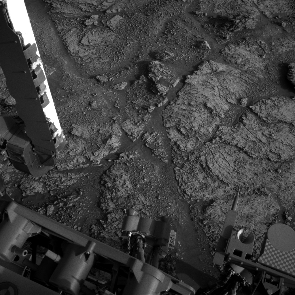 Nasa's Mars rover Curiosity acquired this image using its Left Navigation Camera on Sol 2463, at drive 1786, site number 76