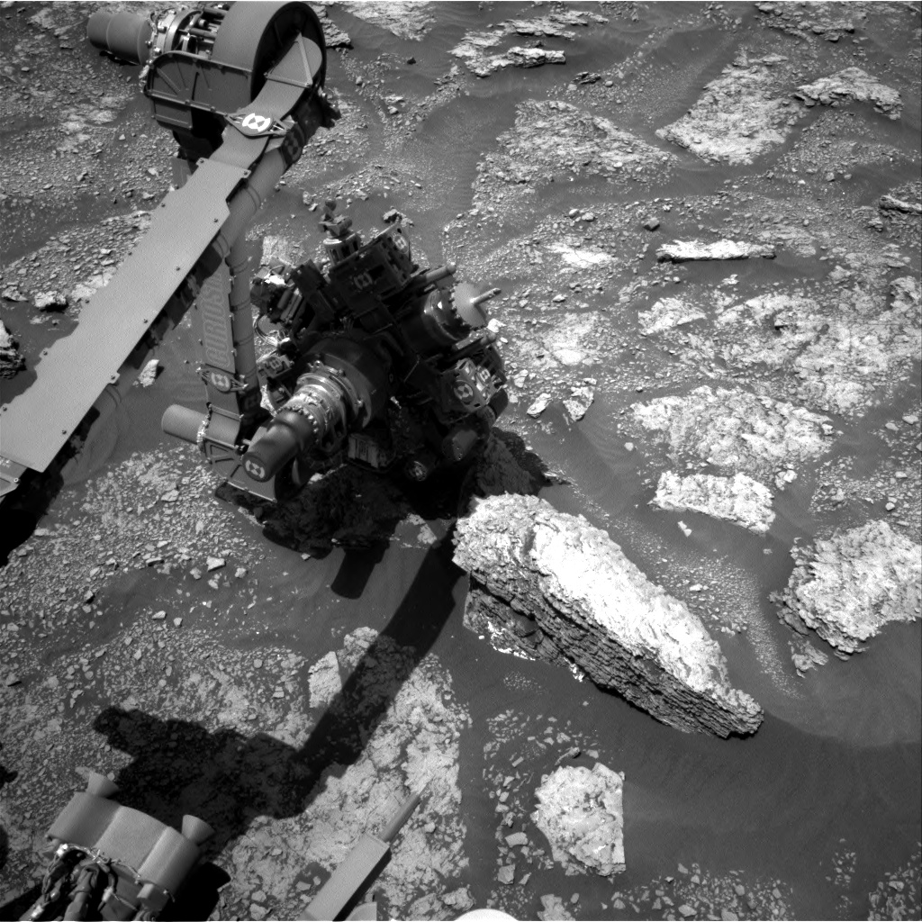 Nasa's Mars rover Curiosity acquired this image using its Right Navigation Camera on Sol 2463, at drive 1714, site number 76