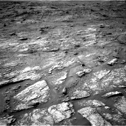 Nasa's Mars rover Curiosity acquired this image using its Right Navigation Camera on Sol 2463, at drive 1756, site number 76