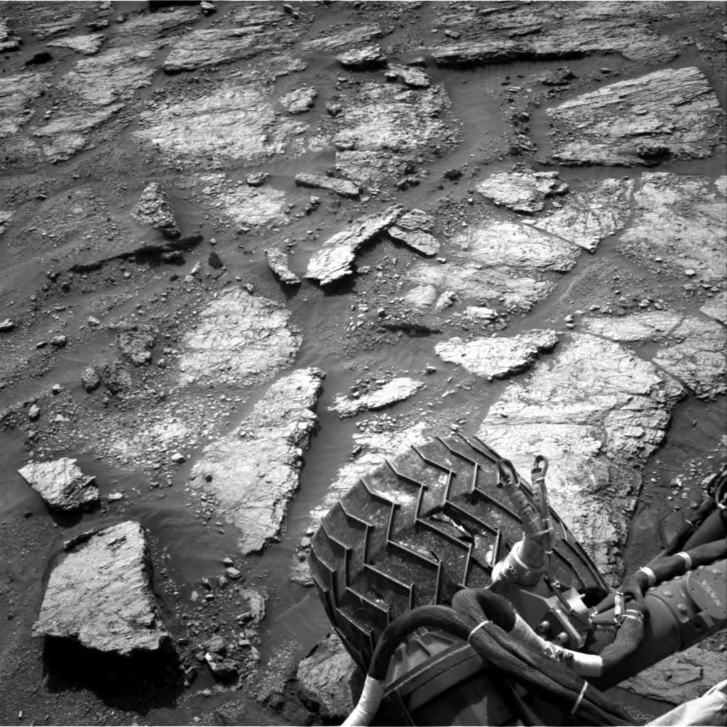 Nasa's Mars rover Curiosity acquired this image using its Right Navigation Camera on Sol 2463, at drive 1786, site number 76