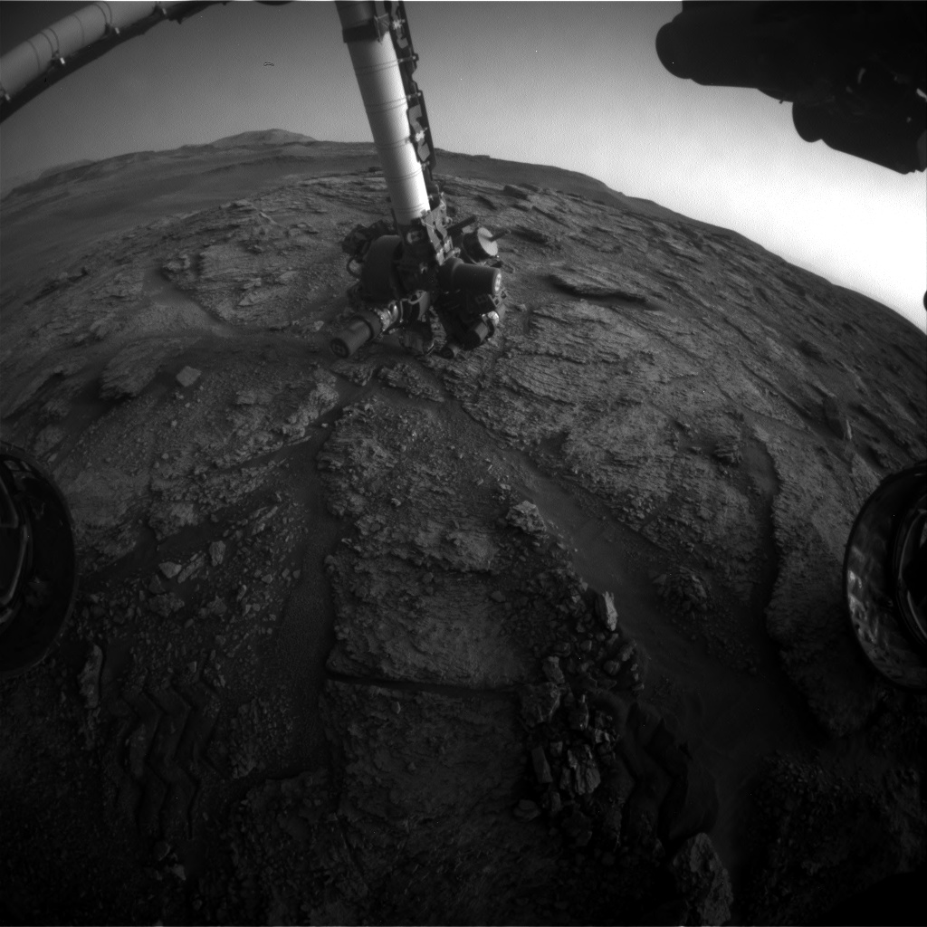 Nasa's Mars rover Curiosity acquired this image using its Front Hazard Avoidance Camera (Front Hazcam) on Sol 2465, at drive 1786, site number 76
