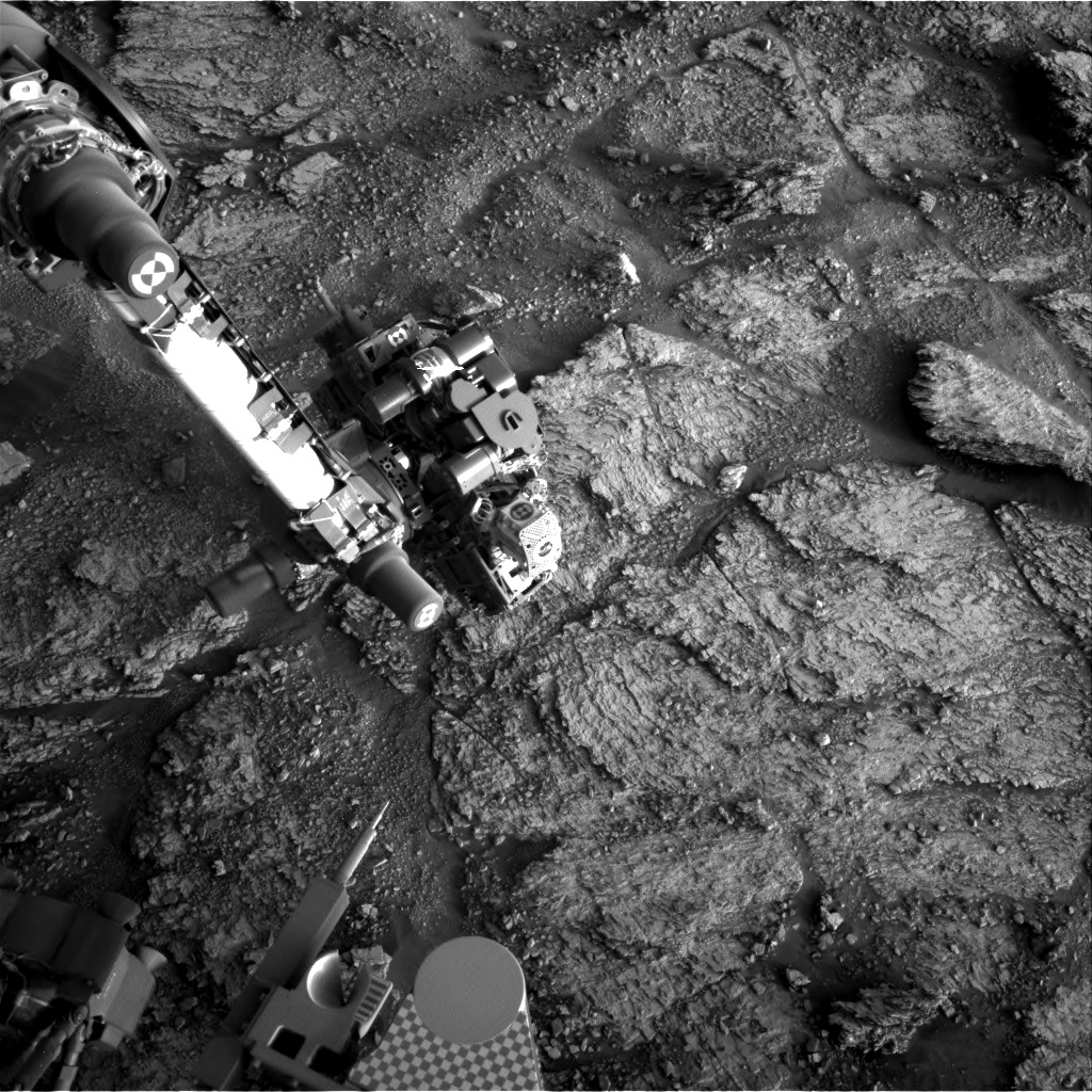 Nasa's Mars rover Curiosity acquired this image using its Right Navigation Camera on Sol 2465, at drive 1786, site number 76