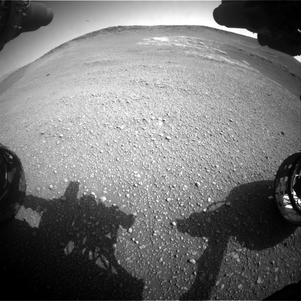 Nasa's Mars rover Curiosity acquired this image using its Front Hazard Avoidance Camera (Front Hazcam) on Sol 2466, at drive 2080, site number 76
