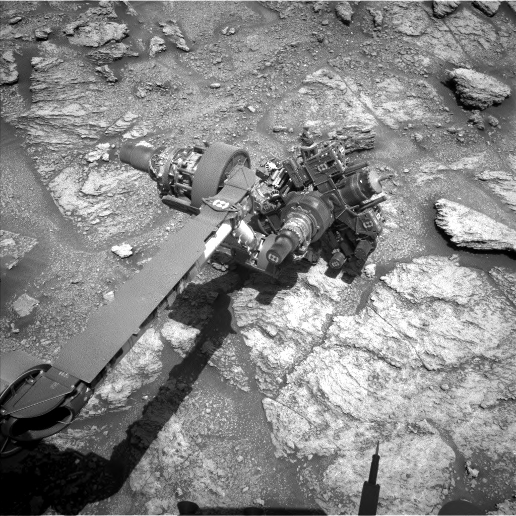 Nasa's Mars rover Curiosity acquired this image using its Left Navigation Camera on Sol 2466, at drive 1786, site number 76