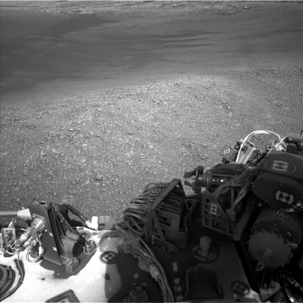 Nasa's Mars rover Curiosity acquired this image using its Left Navigation Camera on Sol 2466, at drive 2080, site number 76