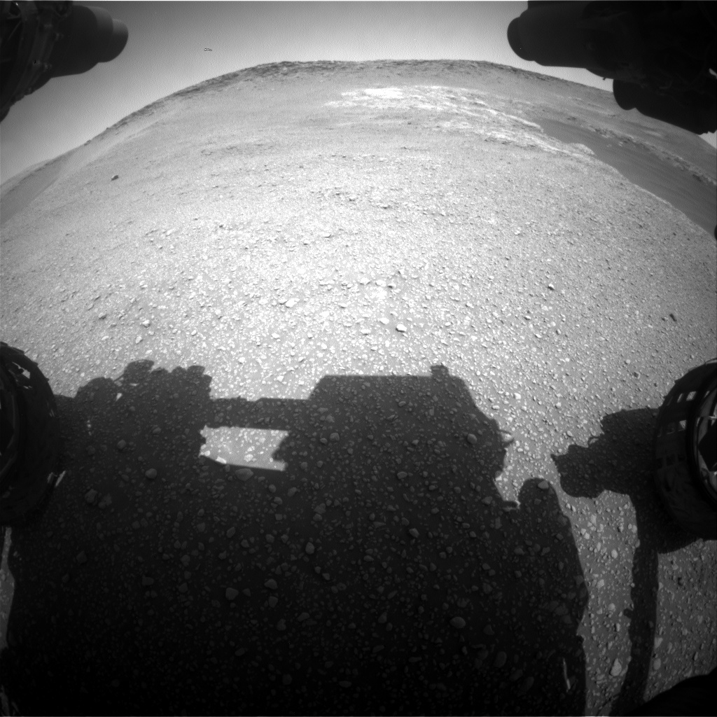 Nasa's Mars rover Curiosity acquired this image using its Front Hazard Avoidance Camera (Front Hazcam) on Sol 2467, at drive 2080, site number 76