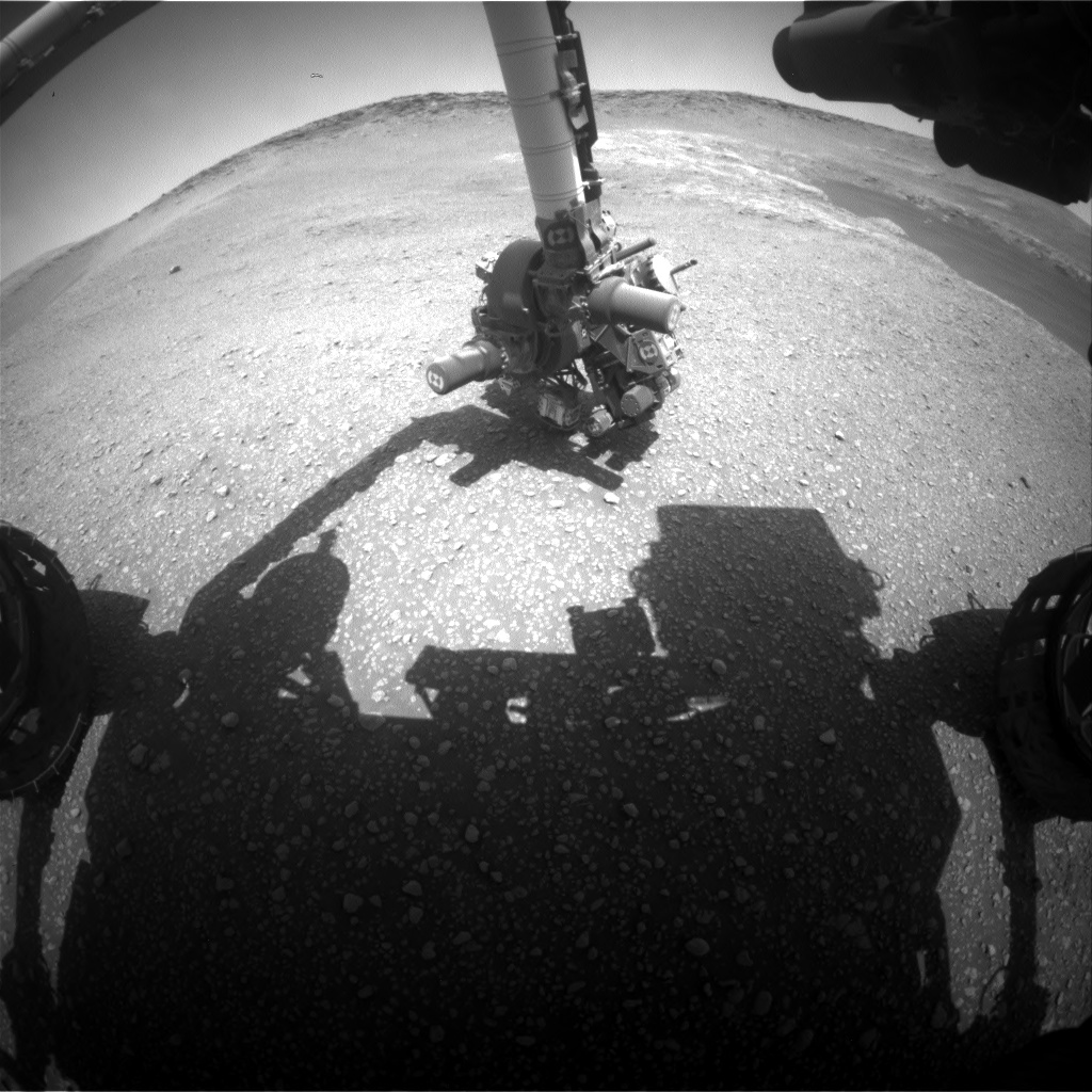 Nasa's Mars rover Curiosity acquired this image using its Front Hazard Avoidance Camera (Front Hazcam) on Sol 2468, at drive 2080, site number 76