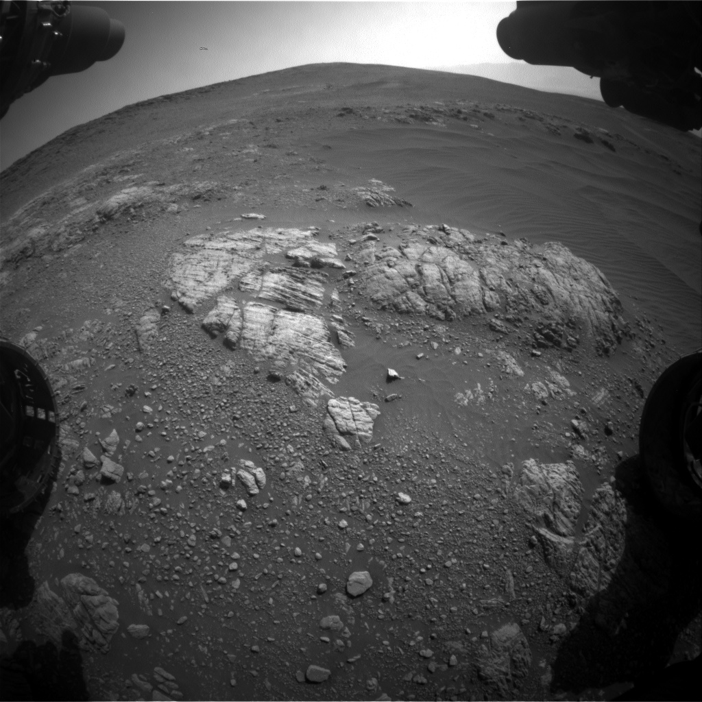 Nasa's Mars rover Curiosity acquired this image using its Front Hazard Avoidance Camera (Front Hazcam) on Sol 2468, at drive 2194, site number 76