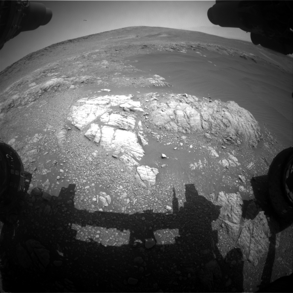 Nasa's Mars rover Curiosity acquired this image using its Front Hazard Avoidance Camera (Front Hazcam) on Sol 2469, at drive 2194, site number 76
