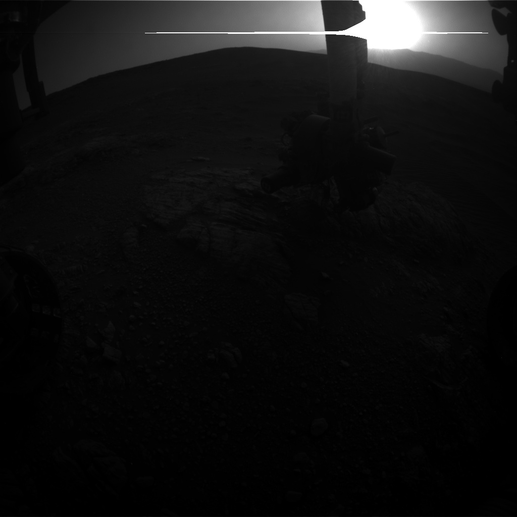Nasa's Mars rover Curiosity acquired this image using its Front Hazard Avoidance Camera (Front Hazcam) on Sol 2470, at drive 2194, site number 76