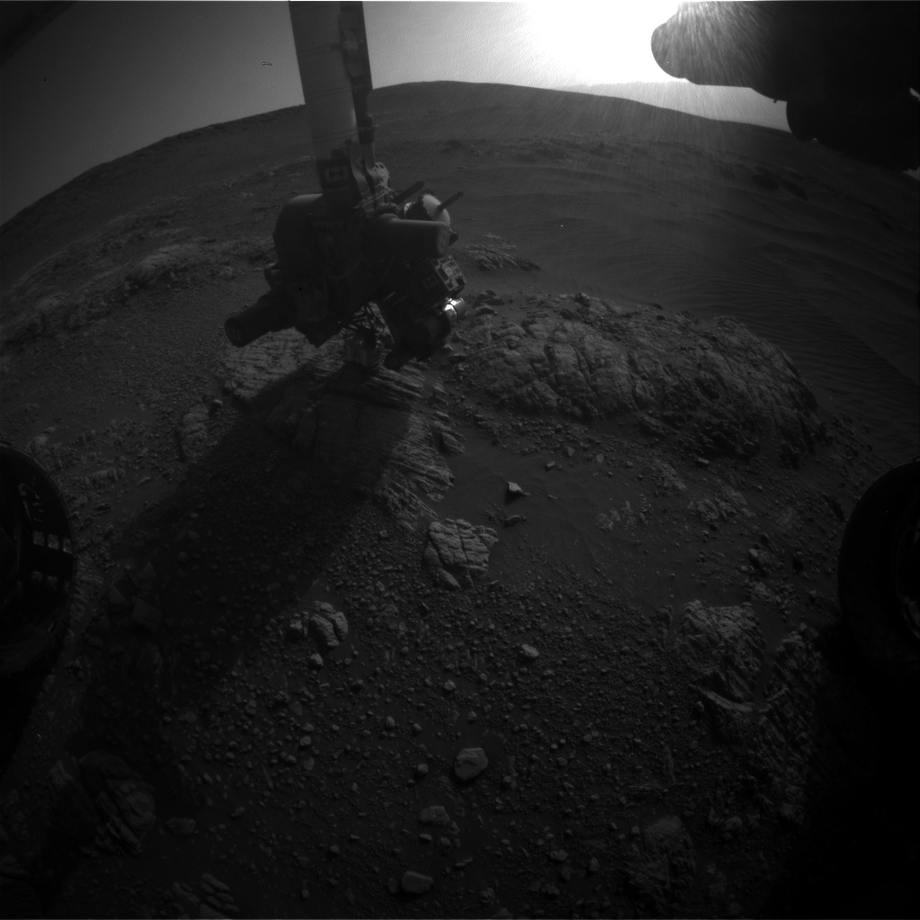 Nasa's Mars rover Curiosity acquired this image using its Front Hazard Avoidance Camera (Front Hazcam) on Sol 2471, at drive 2194, site number 76