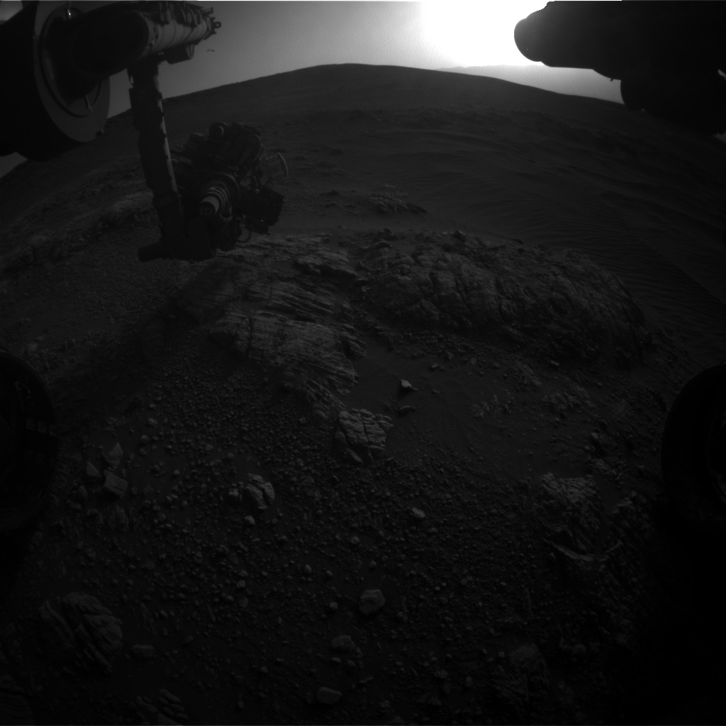 Nasa's Mars rover Curiosity acquired this image using its Front Hazard Avoidance Camera (Front Hazcam) on Sol 2472, at drive 2194, site number 76
