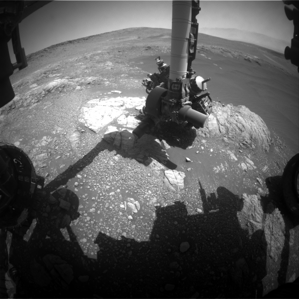 Nasa's Mars rover Curiosity acquired this image using its Front Hazard Avoidance Camera (Front Hazcam) on Sol 2473, at drive 2194, site number 76