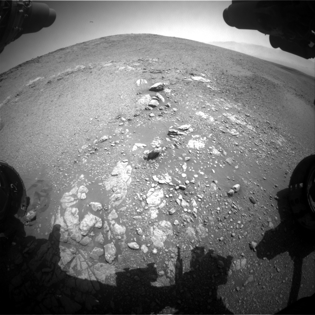 Nasa's Mars rover Curiosity acquired this image using its Front Hazard Avoidance Camera (Front Hazcam) on Sol 2473, at drive 2360, site number 76