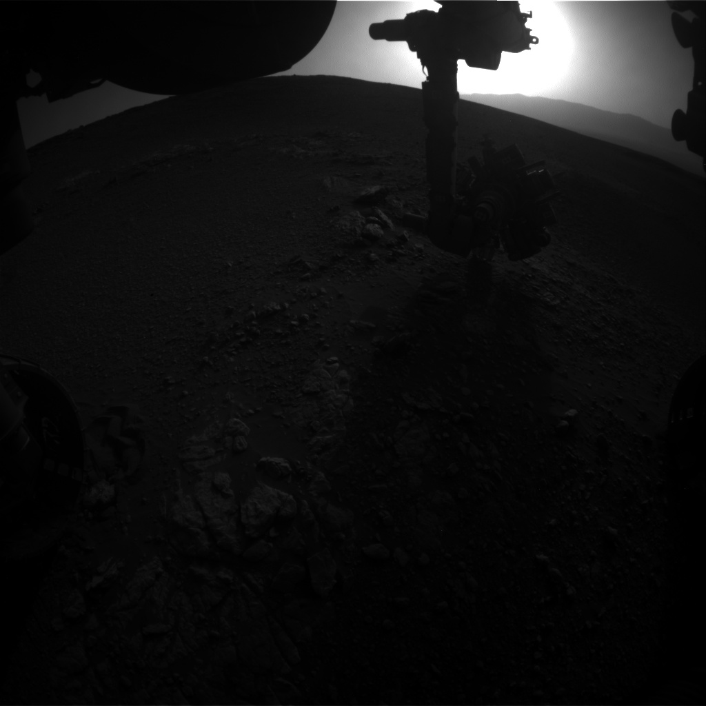 Nasa's Mars rover Curiosity acquired this image using its Front Hazard Avoidance Camera (Front Hazcam) on Sol 2474, at drive 2360, site number 76