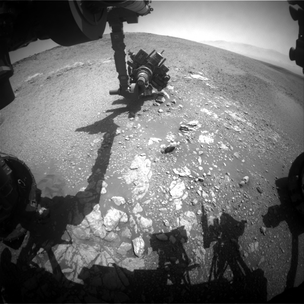Nasa's Mars rover Curiosity acquired this image using its Front Hazard Avoidance Camera (Front Hazcam) on Sol 2475, at drive 2360, site number 76