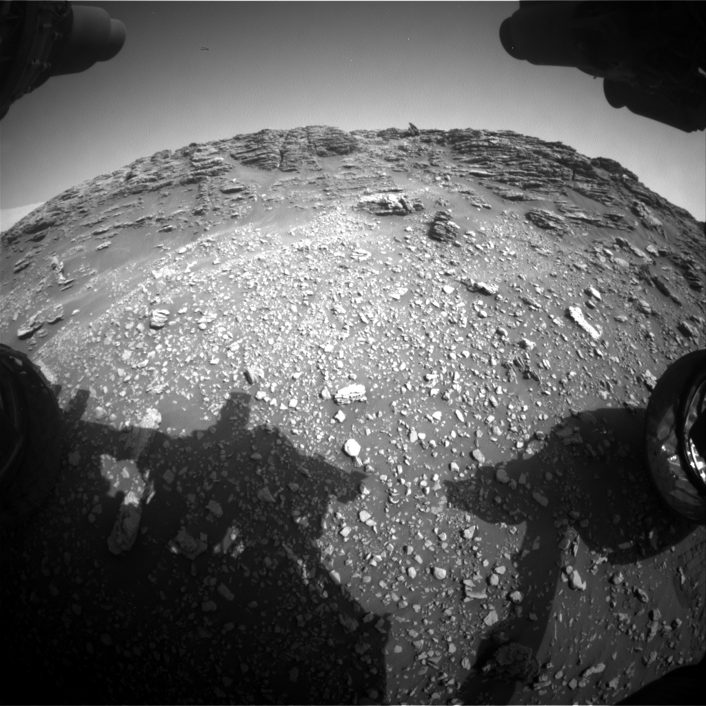 Nasa's Mars rover Curiosity acquired this image using its Front Hazard Avoidance Camera (Front Hazcam) on Sol 2475, at drive 2594, site number 76