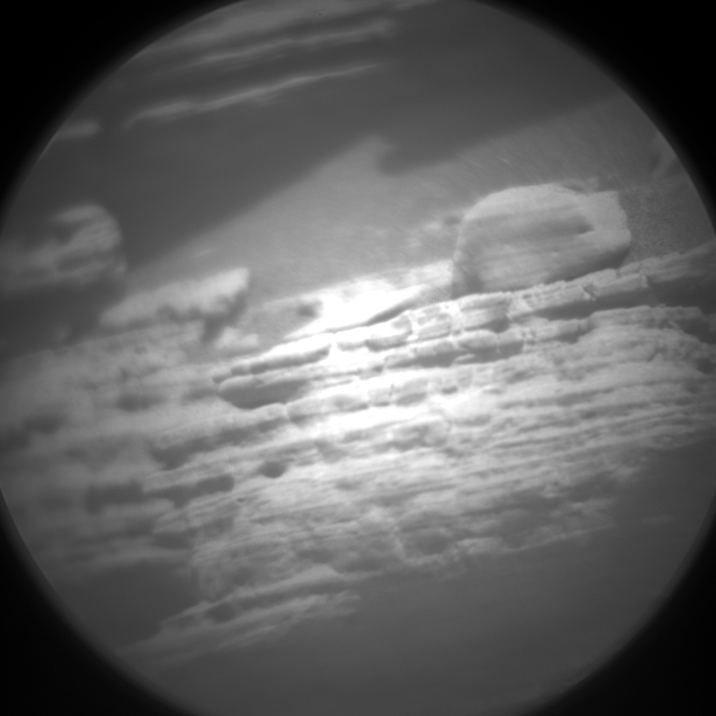 Nasa's Mars rover Curiosity acquired this image using its Chemistry & Camera (ChemCam) on Sol 2476, at drive 2594, site number 76