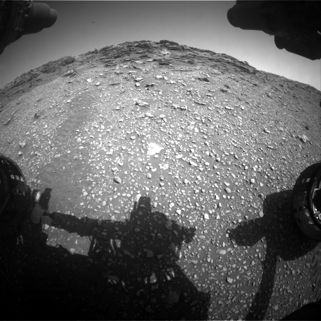 Nasa's Mars rover Curiosity acquired this image using its Front Hazard Avoidance Camera (Front Hazcam) on Sol 2476, at drive 2630, site number 76