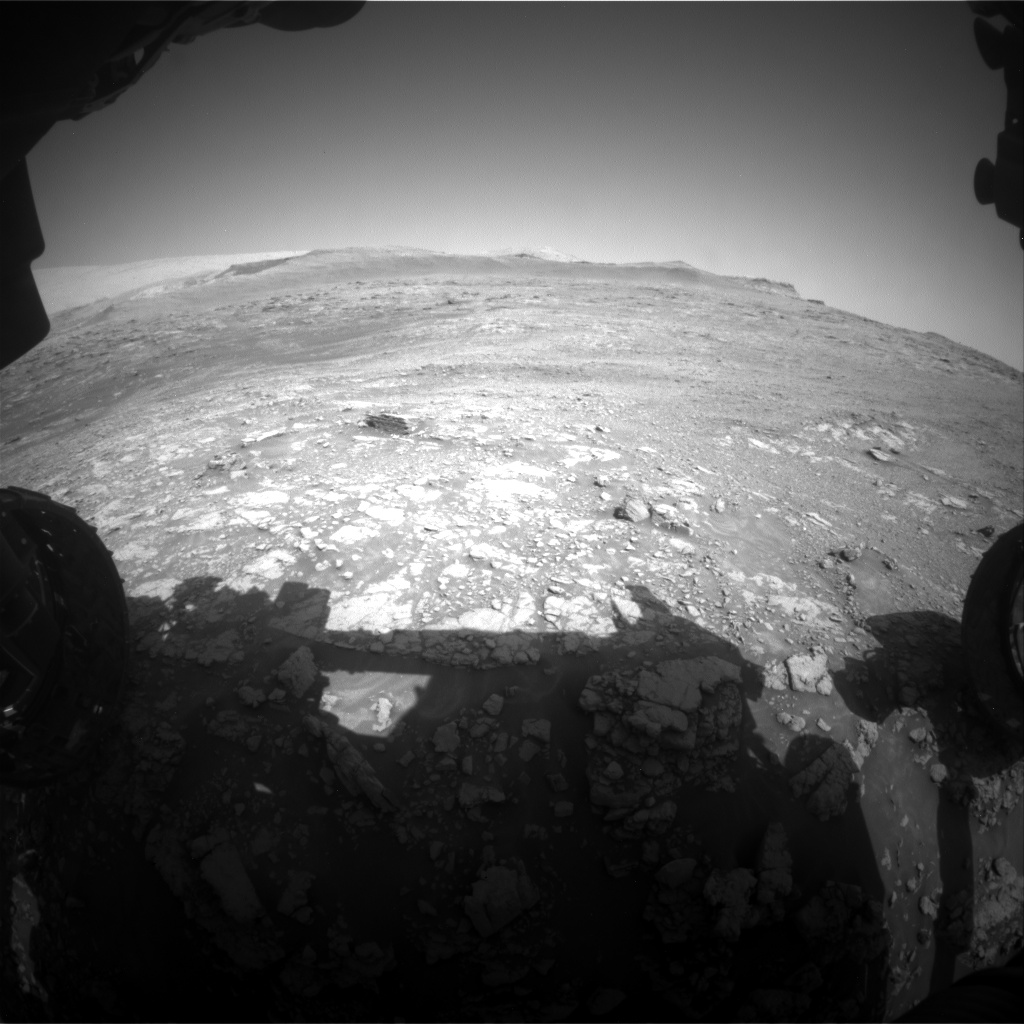Nasa's Mars rover Curiosity acquired this image using its Front Hazard Avoidance Camera (Front Hazcam) on Sol 2477, at drive 2810, site number 76