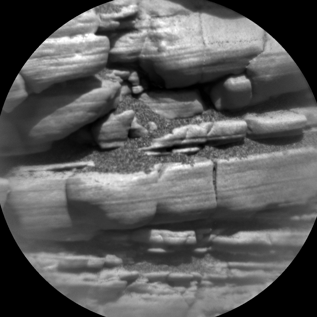 Nasa's Mars rover Curiosity acquired this image using its Chemistry & Camera (ChemCam) on Sol 2477, at drive 2672, site number 76