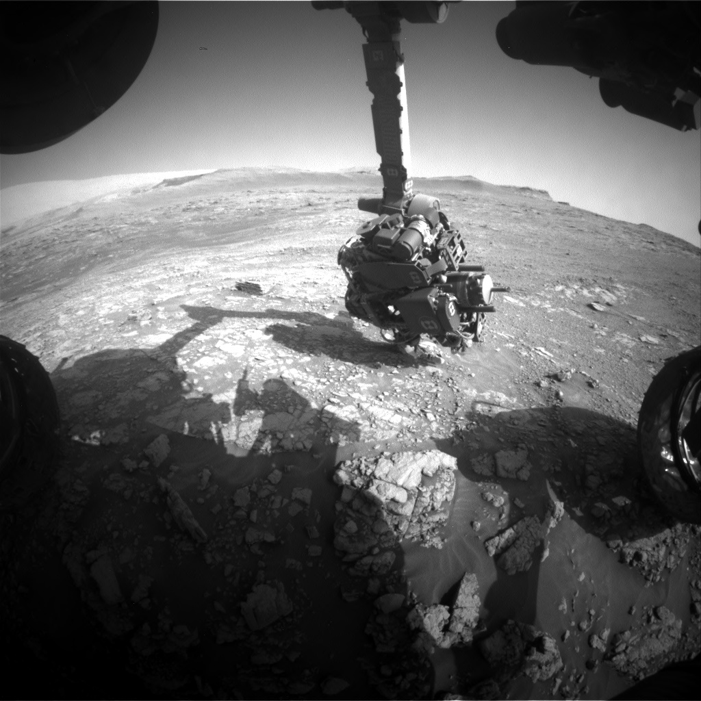 Nasa's Mars rover Curiosity acquired this image using its Front Hazard Avoidance Camera (Front Hazcam) on Sol 2478, at drive 2810, site number 76